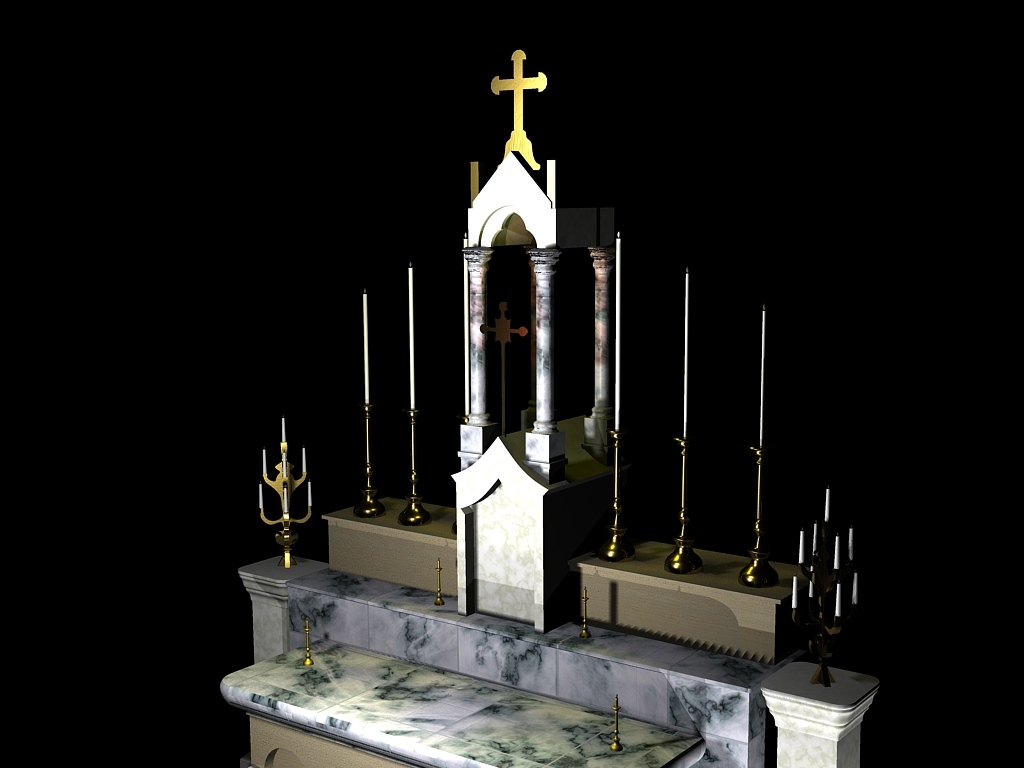 3D rendering of Altar (partial view)